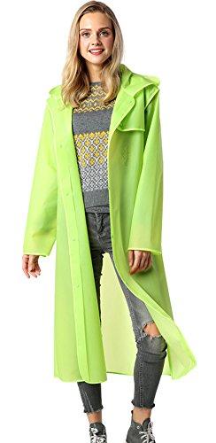 Laxllent Women/Men Unique Transparent Long Lightweight Waterproof Raincoat With Hood Rainwear