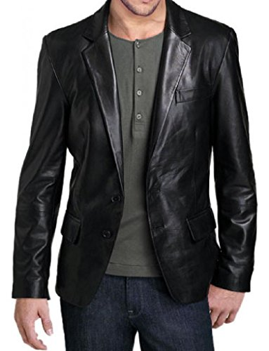 Leather Junction Men's Coat Blazer Jacket