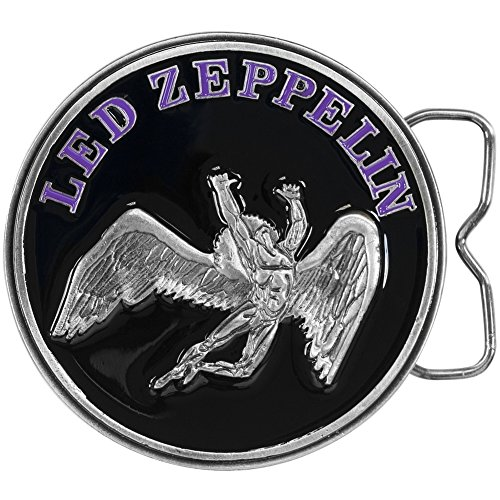 Led Zeppelin – Mens Led Zeppelin – Circle Swan Belt Buckle Black by Old Glory
