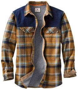 Legendary Whitetails Men's Cedar Swamp Shirt Jacket, barley sky plaid