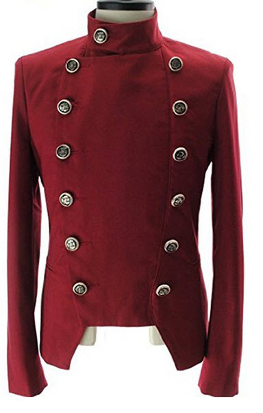 Lende Men's Double Breasted High neck Slim fit Short Jacket.