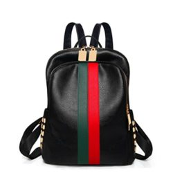 Leparvi Luxury Designer Fashion Women PU Leather Mini Backpack