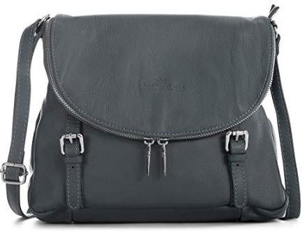 LIATALIA Medium Genuine Tuscan Italian Soft Leather Buckle Effect Cross Body Shoulder Handbag &# ...