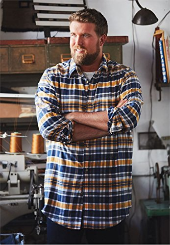 Liberty Blues Men's Big & Tall Lightweight Flex Flannel Shirt