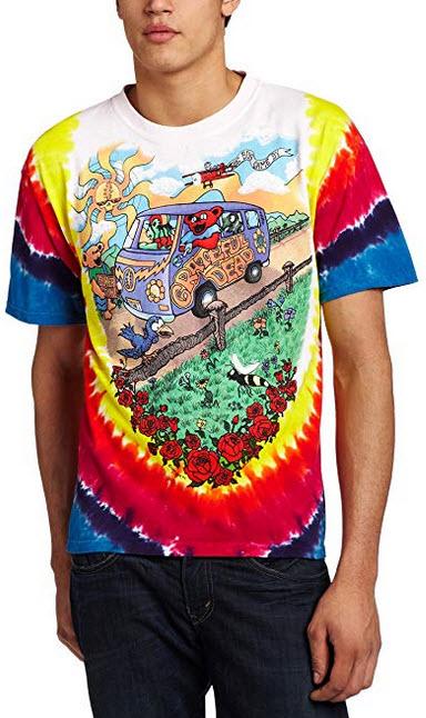 Liquid Blue Men's Grateful Dead Summer Tour Bus T-Shirt