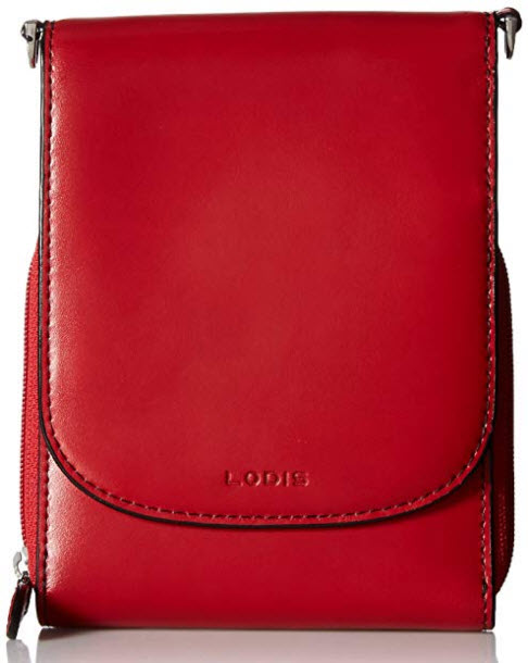 Lodis Audrey RFID Reese Wallet On String, red