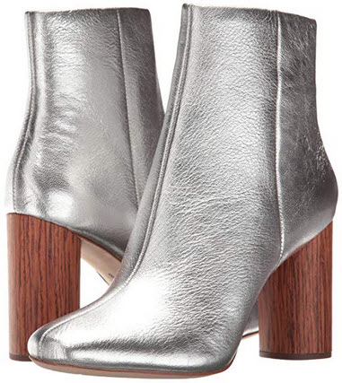 Loeffler Randall Women's Wilder (Metallic Leather) Ankle Boot cherry silver