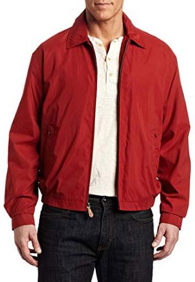 London Fog Men's Auburn Zip-Front Golf Jacket, chili