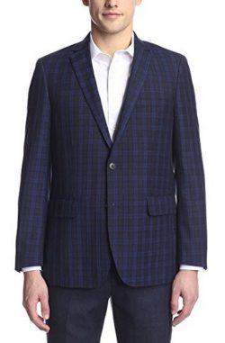 London Fog Men's Checked Sportcoat blue/navy