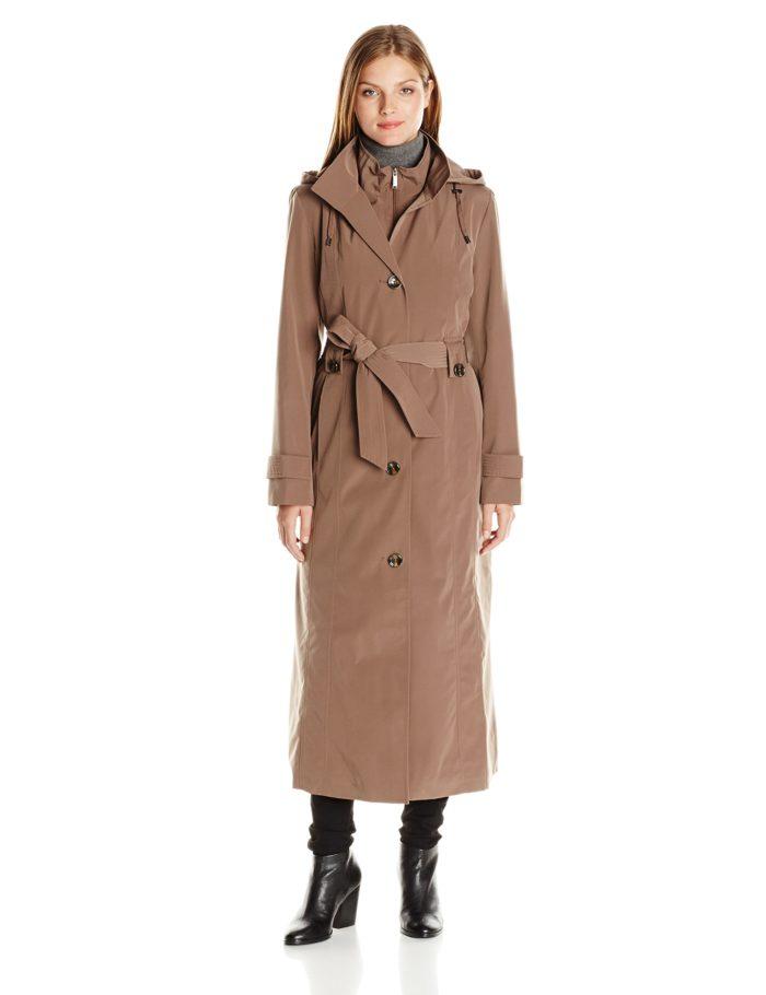London Fog Women's 49″ Long S/b Rain With Bib