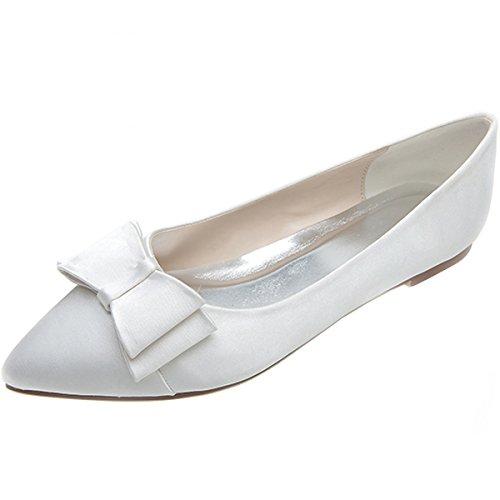 Loslandifen Women's Elegant Pionted Toe Wedding Ballet Flats Dress Shoes(2046-09chouduan39 ...