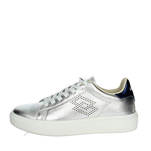 Lotto Women's Leggenda Impressions Silver Leather Sneaker