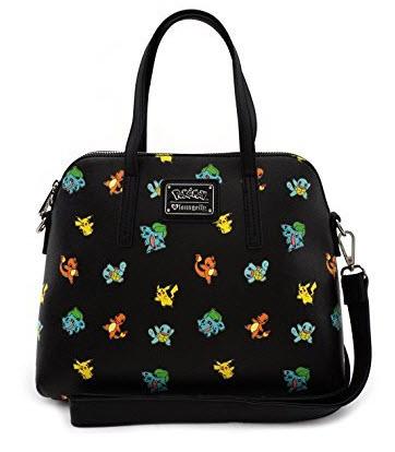 Loungefly Pokemon Starter All Over Print Bag Purse, black