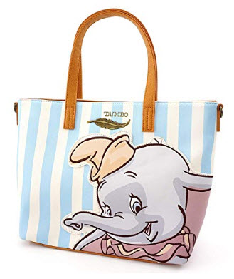 Loungefly x Disney Dumbo Striped Tote Bag with Crossbody Strap