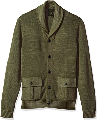 Lucky Brand Men's Military Shawl Collar Cardigan Sweater