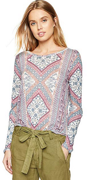 Lucky Brand Womens Lucky Tapestry Tee multi