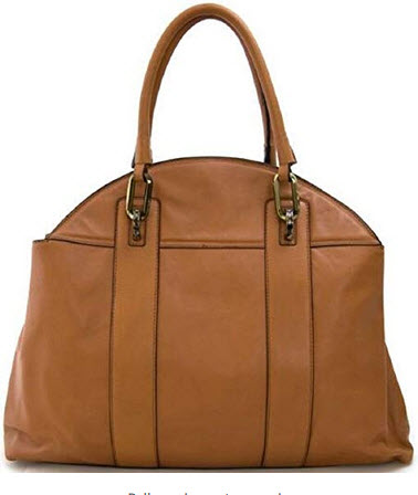 Lush Leather Dome Top Handle Camel Brown Tote