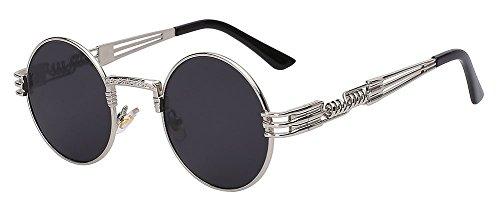Luxury Metal Sunglasses Men Round Sunglass Steampunk Coating Glasses Vintage Retro Lentes Oculos ...