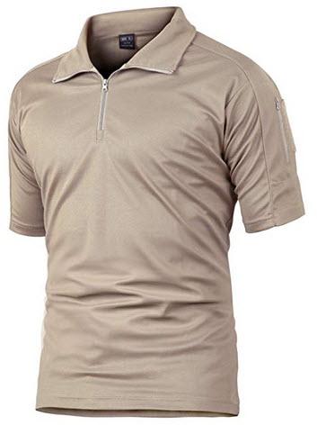 MAGCOMSEN Men's Lightweight Short Sleeve Moisture Wicking Outdoor T-Shirts khaki