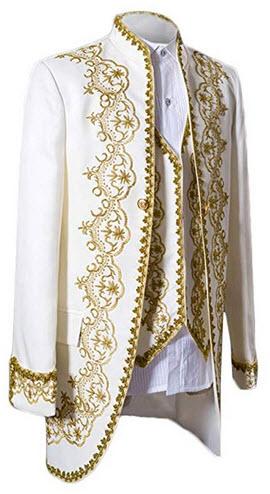 MAGE MALE Men's Suits 3 Piece Luxurious Dress Suit Slim Fit Stylish Palace Blazer Casual C ...