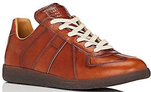 Maison Margiela 22 Replica Low Burnished Leather Sneaker