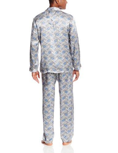 Majestic International Men's Cypress Silk Dot Patterned Pajama