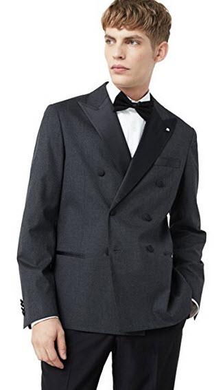 Mango Men's Double-Breasted Tuxedo Blazer.