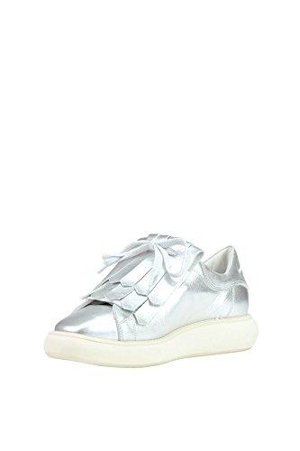 MANUEL BARCELÓ Women's MCGLCAK03053E Silver Leather Sneakers