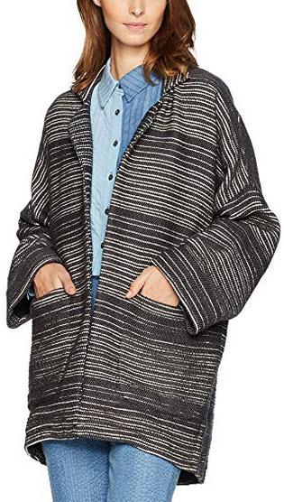 Mara Hoffman Women's Esther Jacket static stripe black cream