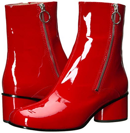 Marc Jacobs Women's Crawford Double Zip Ankle Boot Fashion red