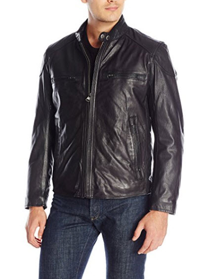 Marc New York by Andrew Marc Men's Mac Calf-Leather Moto Jacket.