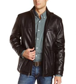 Marc New York by Andrew Marc Men's Slade Smooth Lamb-Leather Jacket.