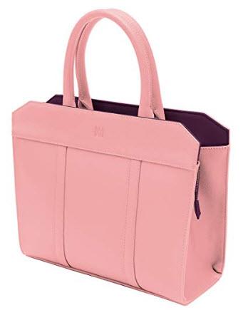 Marsi Bond Vegan Saffiano Stylish Tote- Fashionable Faux leather Shoulder Bag pink