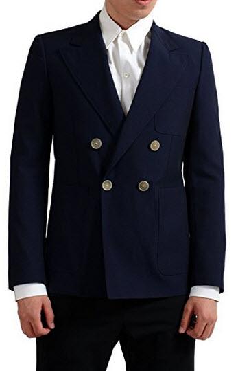 """Martin Margiela """"14"""" 100% Wool Navy Double Breasted Men's Blazer US 38 IT 48."""