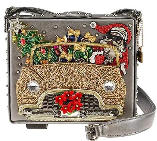 Mary Frances Santa Cruise, Beaded Holiday Crossbody Handbag