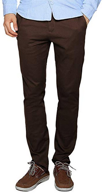 Match Mens Stretch Casual Pants brown