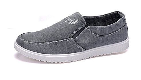 Men' Soft Flat Loafers Slip-on Casual Canvas Shoes Anti-slip Simple Comfortable.