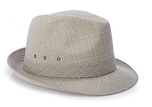 Men Solid Jute Straw Sun Trilby Fedora Hat Top hat Jazz Panama Hat by LM Amorulove