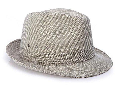Men Solid Jute Straw Sun Trilby Fedora Hat Top hat Jazz Panama Hat by LM Amorulove