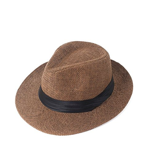 Panama Wide Brim Trilby Straw Cap Sun Hat Beach Summer Sunhat by Grow Store