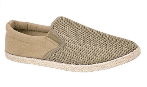Mens Canvas Slip On Espadrille Plimsoll Casual Rope Pumps Loafer Deck Trainers Shoes Size 7-12 sand