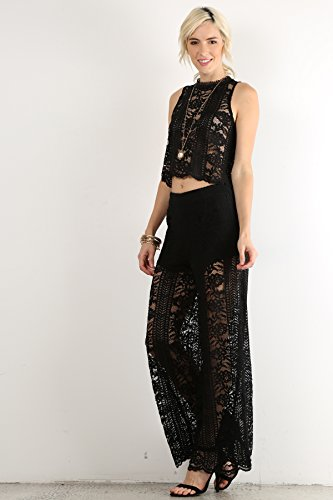 MeshMe Womens St Albans – Lace Top and Pants Set
