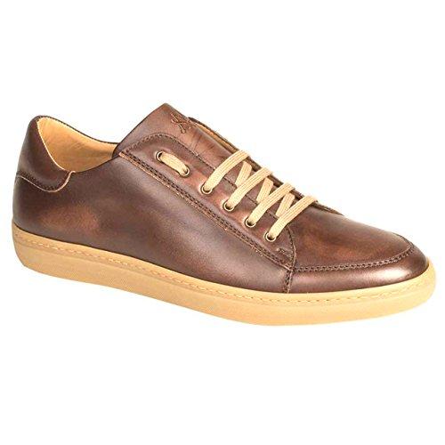 Mezlan Masi Brown Italian Calfskin Leather Sneakers