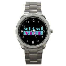 Miami Vice TV Series Movie Logo #A Sport Metal Watch