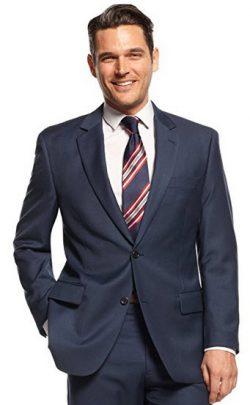 Michael Kors Blazer Navy Solid Two Button New Men's Sport Coat.