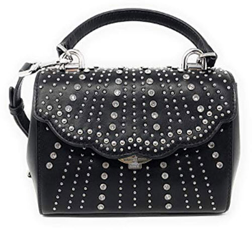 Michael Kors Crossbodies Extra-Small Embellished Crossbody Bag in Black