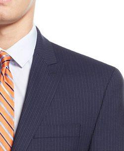 Michael Kors Navy Striped 100% Wool Two Button New Men's Sport Coat.