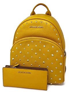 MICHAEL Michael Kors Abbey MD Backpack bundled with Michael Kors Jet Set Travel LG Card Case Car ...