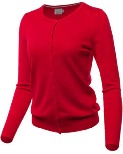 MINEFREE Women's Crewneck Cardigan Button Down Long Sleeve Knit Sweater (S-3XL)