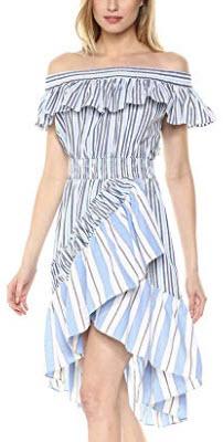Misa Women's Marin Dress, blue fe